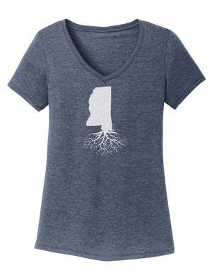 Mississippi Traditional Fit Tri-Blend V-Neck