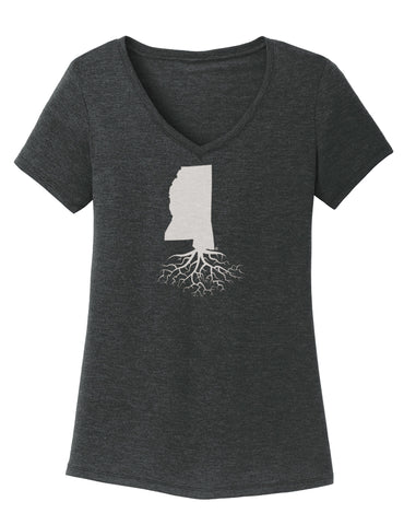 Mississippi Women's V-Neck Tee