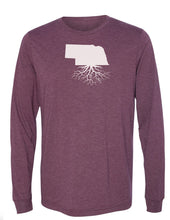 Nebraska Unisex Long Sleeve Tri-Blend Crew Tee