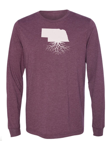Nebraska Long Sleeve Crewneck Tee
