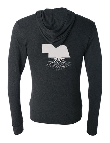 Nebraska Light-Weight Zip Hoodie