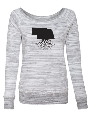Nebraska Women's Off The Shoulder Sweatshirt