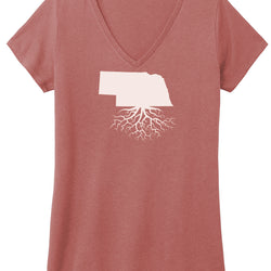 Nebraska Women's V-Neck Tee