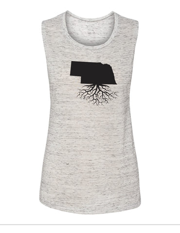 Nebraska Women's Muscle Tank