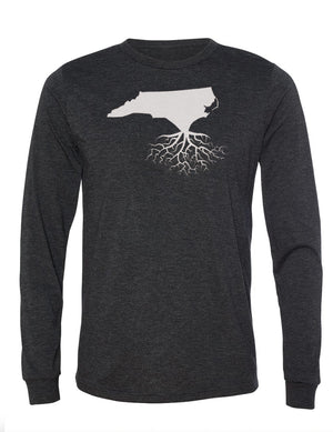 North Carolina Unisex Long Sleeve Tri-Blend Crew Tee
