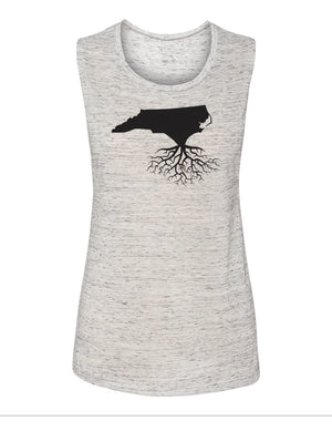 North Carolina Women's Flowy Muscle Tank