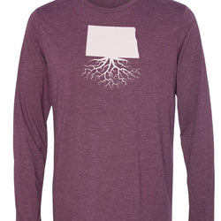 North Dakota Long Sleeve Crewneck Tee