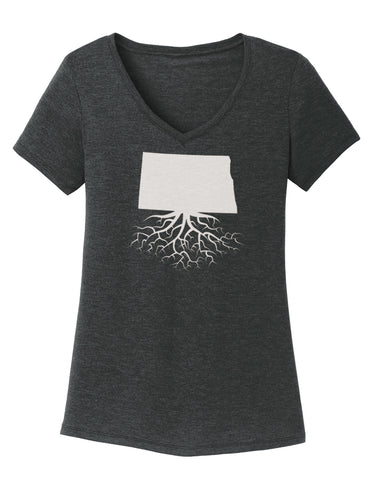 North Dakota Women's V-Neck Tee