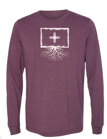 New Mexico Flag Long Sleeve Crewneck Tee