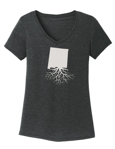 New Mexico Traditional Fit Tri-Blend V-Neck