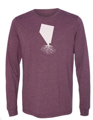 Nevada Unisex Long Sleeve Tri-Blend Crew Tee