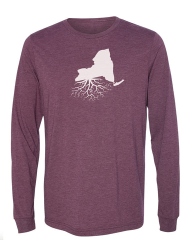 New York Long Sleeve Crewneck Tee