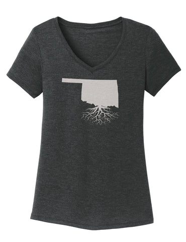 Oklahoma Women's Traditional Fit Tri-Blend V-Neck
