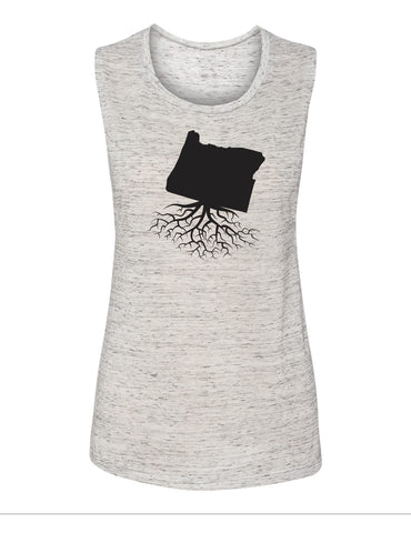 Oregon Women's Muscle Tank