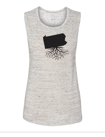 Pennsylvania Women's Muscle Tank