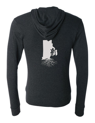 Rhode Island Unisex Triblend Zip Light-Weight Hoodie