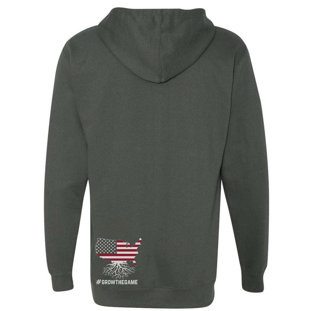 USA Rugby Roots Mid-Weight Pullover Hoodie