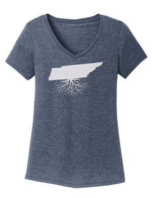 Tennessee Traditional Fit Tri-Blend V-Neck