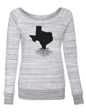 Texas Women's Wide Neck Sponge Fleece