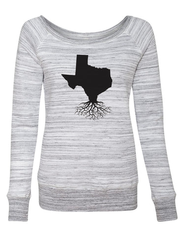 Texas Women's Off The Shoulder Sweatshirt