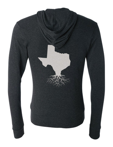 Texas Unisex Triblend Zip Light-Weight Hoodie