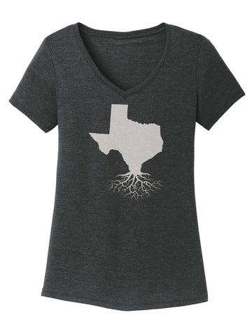 Texas Traditional Fit Tri-Blend V-Neck