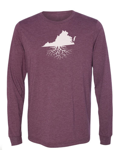 Virginia Long Sleeve Crewneck Tee