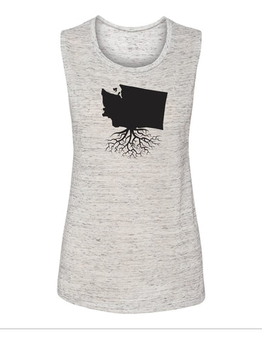 Washington Women's Muscle Tank