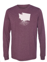 Washington Unisex Long Sleeve Tri-Blend Crew Tee