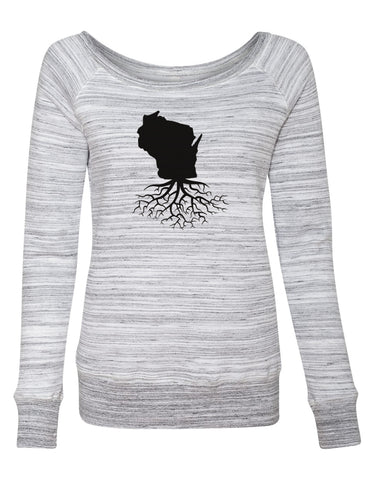 Wisconsin Women's Off The Shoulder Sweatshirt
