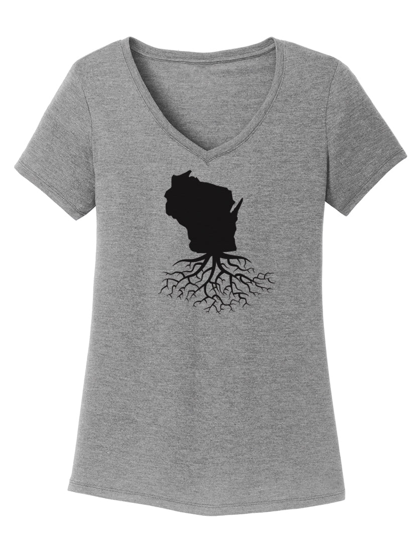 Wisconsin Women's V-Neck Tee