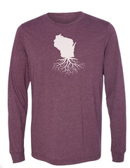Wisconsin Unisex Long Sleeve Tri-Blend Crew Tee