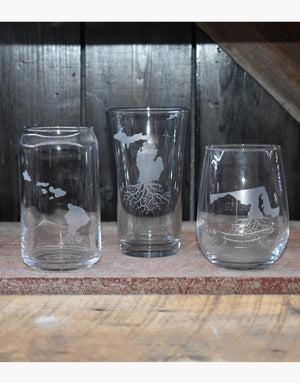 Roots Beer Can Glasses