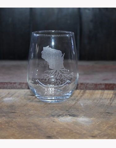 Roots Stemless Wine Glasses