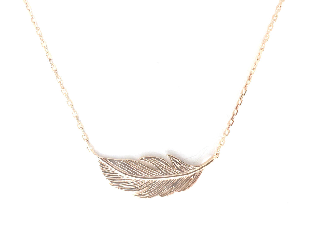 Feather Gold Necklace