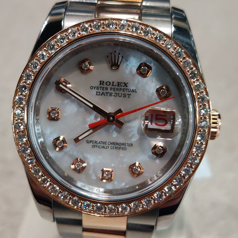 Rolex Datejust Two Tone Rose Gold