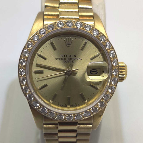 Ladies Presidential Rolex Diamond Bezel