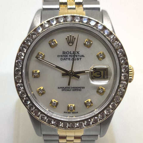 Two Tone Rolex Diamond Datejust