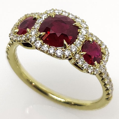 18k Omi Prive Pigeon Blood Ruby Ring