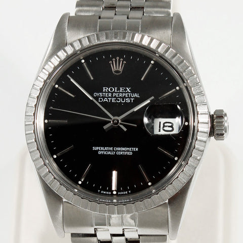 Rolex Oyster Perpetual Datejust Black Dial