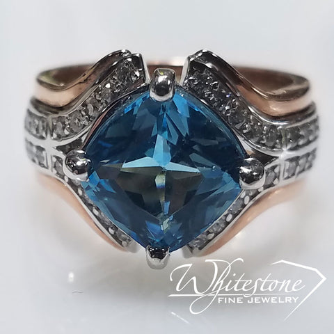 Unique Two Tone Custom Ring