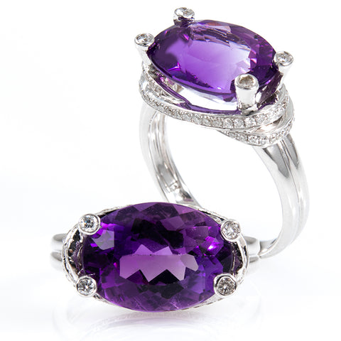 Amethyst & Diamonds