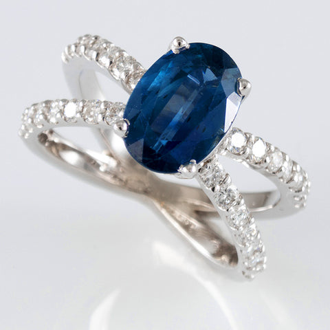 Strong Blue Sapphire Ring
