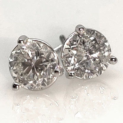 1.95 TCW Diamond Stud Earrings