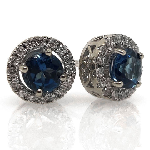 14k London Topaz Earrings