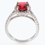 18k White Gold Garnet Ring