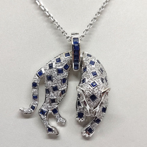 18k Leopard Pendant & Necklace