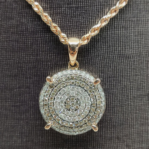 Rose Gold & Diamonds Necklace Pendant