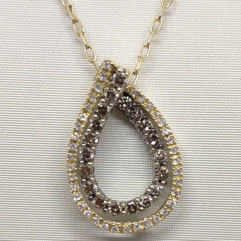 White & Chocolate Diamond Necklace
