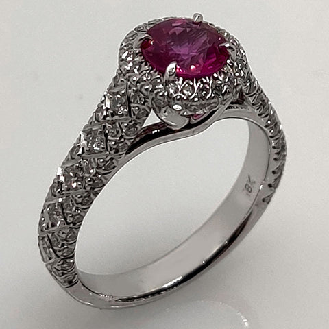 Pink Sapphire 18k Omi Prive Ring